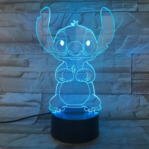 Anime Cartoon Stitch 3d Usb Led Neon Sign Projector Illusion Night Lamp Light Disney Night Light Lilo And Stitch 3d Led Lamp
