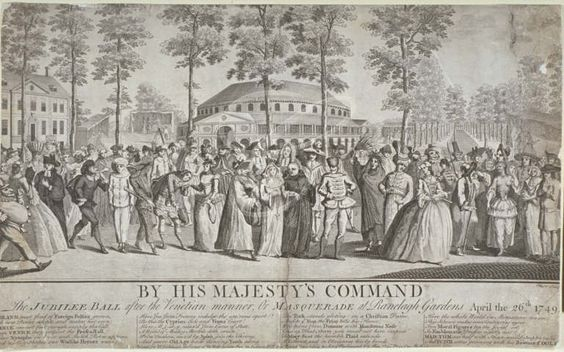 View of the Jubilee Venetian masquerade ball in Ranelagh Gardens, Chelsea, 1749