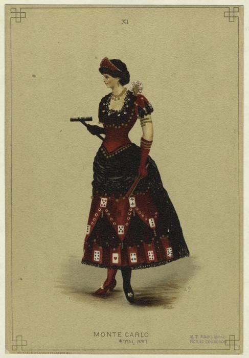 From the 1887 edition of Fancy Dresses Described: or, What to wear at fancy balls.: