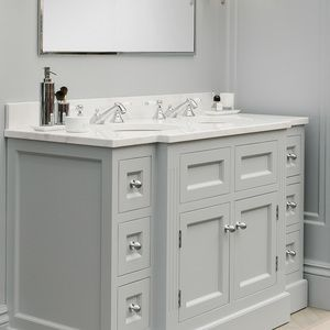 Double vendome painted vanity unit painted in paint and paper library lead 5 with polished - Marble vanity units ...