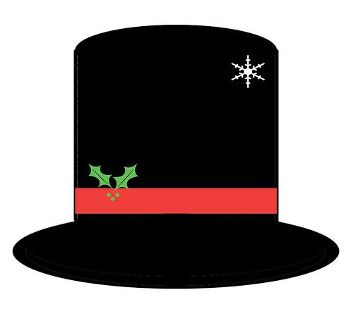 Printable snowman hat pattern rendition of the hat for Top hat template for kids