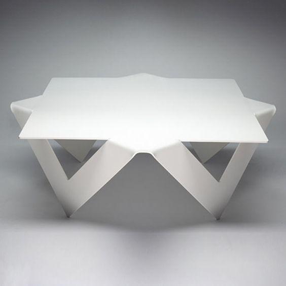 Unique Coffee Table Design Folded Steel