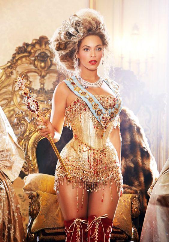 Beyoncé Knowles in Thierry Mugler longline corset / mini corset dress | Corset Dresses