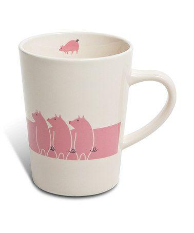 Loving this Pink Pig 6-Oz. Mug on #zulily! #zulilyfinds