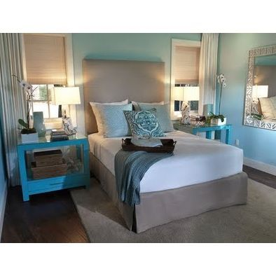 Bedroom Camel Gray Blue Turquoise Design Pictures