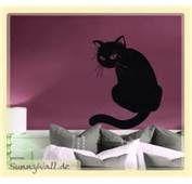 Wandtattoo Katze Hängend Ein Süsser Schwarzer Kater Als Wanddeko