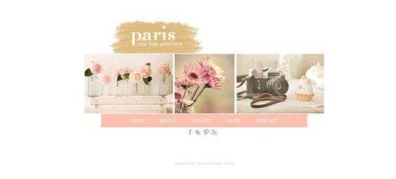 Paris - WEBSITE template. $40.00, via Etsy.
