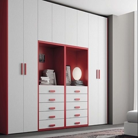 Ropero para ni as muebles en melamina construccion en for Roperos para habitaciones pequenas