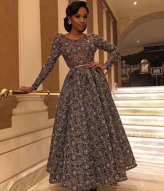 When your dress is like Yaasss! @bonang_m slayed this @taibobacar dress ✨  #BellaNaijaWeddings