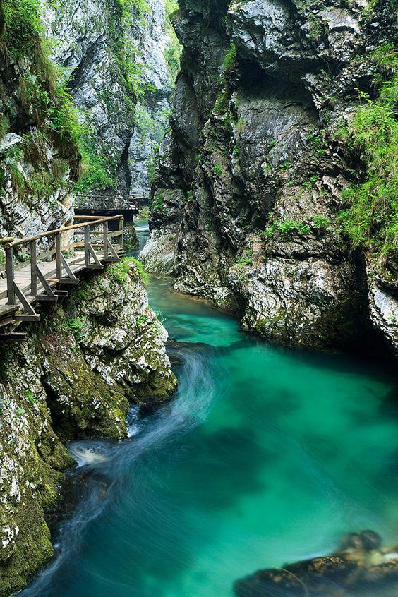 La Garganta de Vintgar (Bled), Eslovenia
