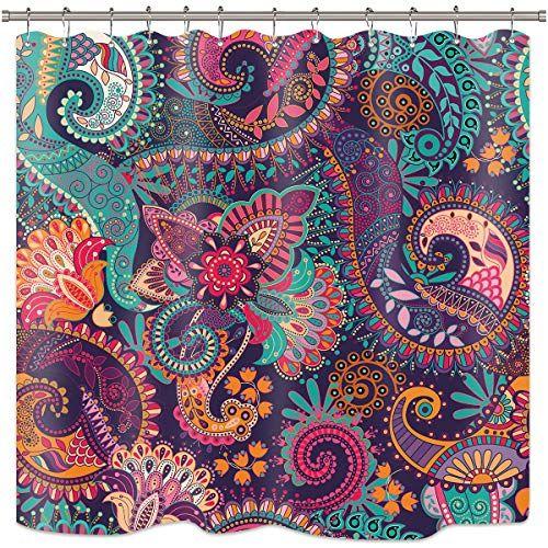 Riyidecor Colorful Purple Paisley Tribal Mandala Indian Bohemian