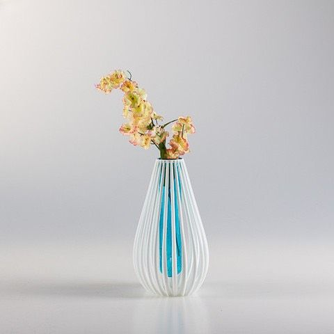 Marine Vase by Ilimp.  Marine vase visually divide two functions of vase: as a volume with water and good shaped furniture accessory. It is made in minimalist style. Size of Marine vase: 105x105x178mm . You can order test tubes in any chemical shop (diameter 30mm height 160mm) to finish your vase. Download this amazing design on cults3d.com #3dprinting #3dprint #3dprinted #cults3d #vase #home #homedecor #design #idea #science #testtube by cults3d