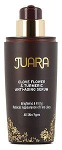 JUARA Clove Flower & Turmeric Anti-Aging Serum - 1.0 oz. Product Description: BOOSTS RADIANCE   SMOOTHES   REDUCES FINE LINES   LIFTS & FIRMS   HYDRATES   PROTECTS Get glowing radiant skin! This repar                                                                                                                                                     More