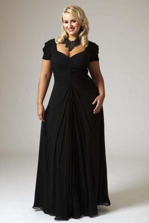Elegance for fuller figure- Black- slimming effect...... and ...