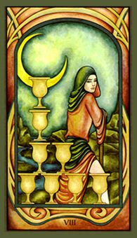 July 2 Tarot Card: Eight of Cups (Fenestra deck) Knowing when to walk away is a sign of strength. Situations and people that no longer serve you will only drag down your spirit, and your progress