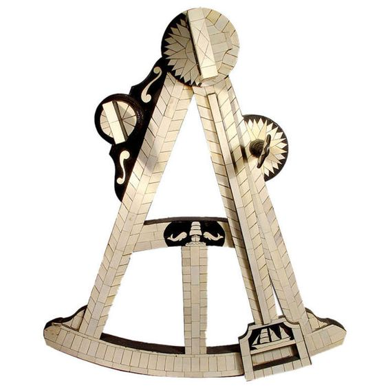 3 Foot Tall Wood & Ivory Trade Sign - Mariner's Octant | From a unique collection of antique and modern nautical objects at http://www.1stdibs.com/furniture/more-furniture-collectibles/nautical-objects/