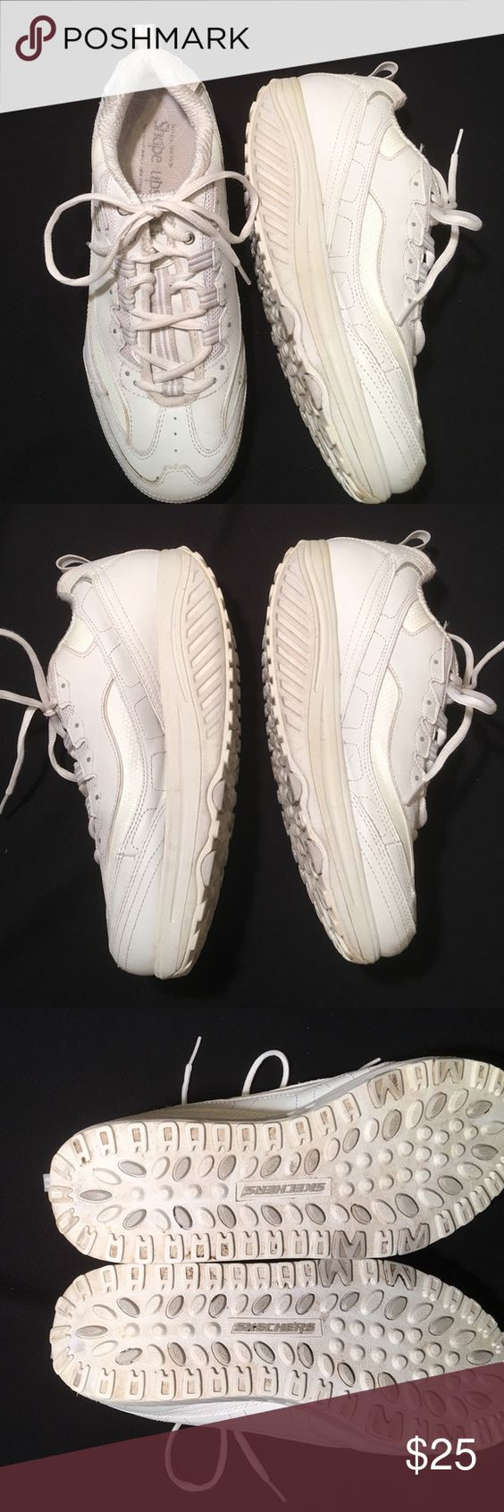 Skechers Shape Ups White Size 10 Women's One of the most comfortable fun shoe to wear. They always seem to be easier on my joints when I walk. Hardly worn. Excellent condition. Non smoking home. Fast shipper Skechers Shoes Athletic Shoes