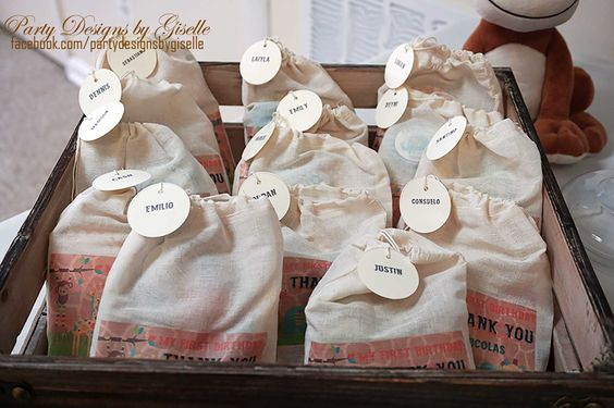 Party Favors using Muslin Bags