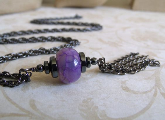 Hey, I found this really awesome Etsy listing at https://www.etsy.com/listing/182195426/lavender-dragon-vein-agate-hematite