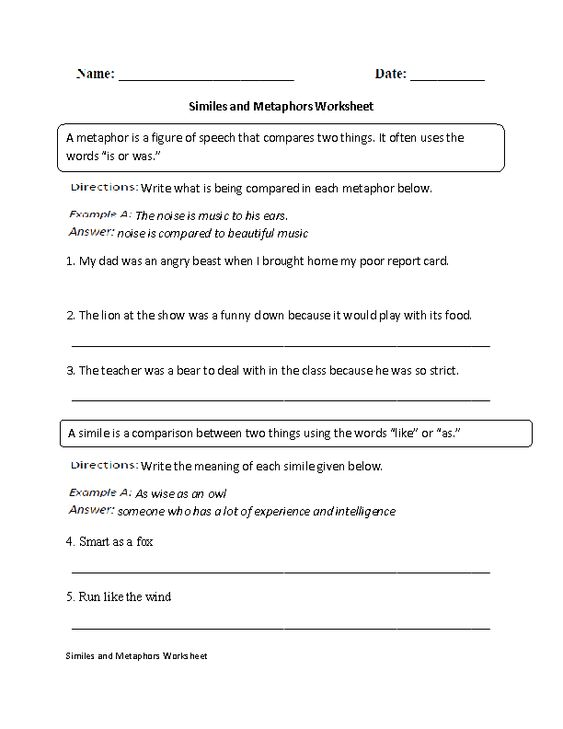 Simile Or Metaphor Worksheet Free Worksheets Library – What is a Metaphor Math Worksheet