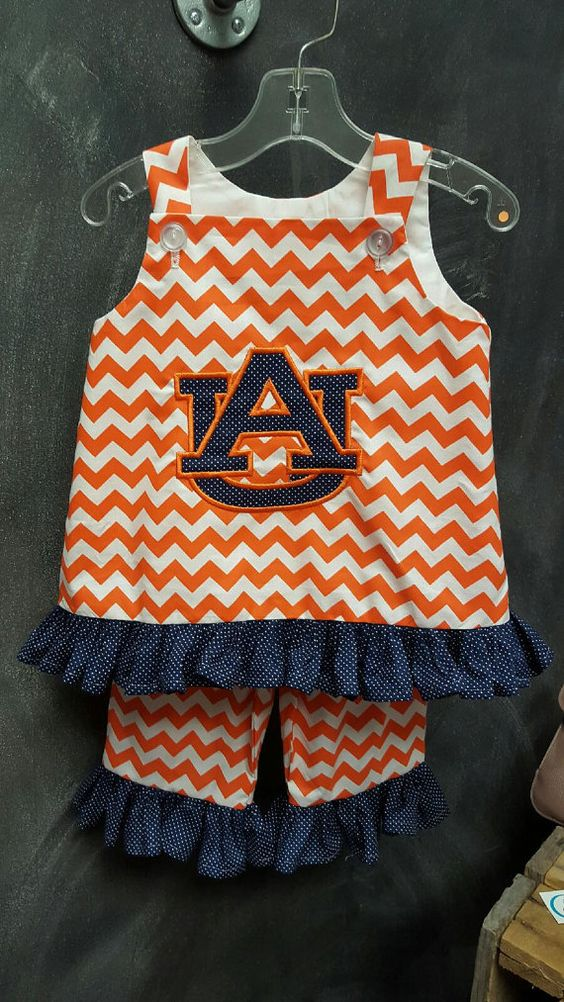 Game Day swing top and matching pants. Outfit shown is for Auburn University…