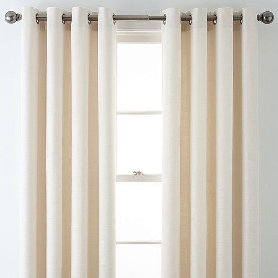 quinn basketweave grommet top curtain