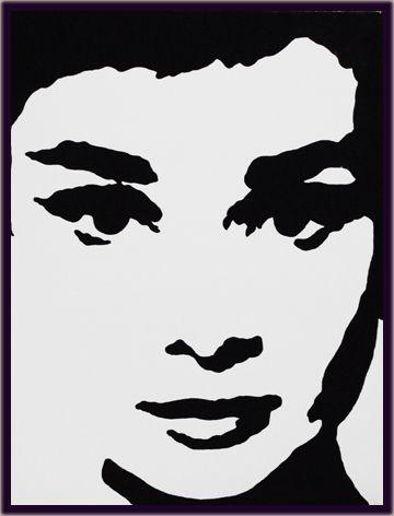 Audrey hepburn silhouette google zoeken schilderijen - Cuadros audrey hepburn ...