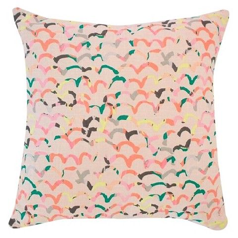 Designed by blogger and designer Joy Cho, this colorful throw pillow is a great layering piece that can work with just about any home decor.