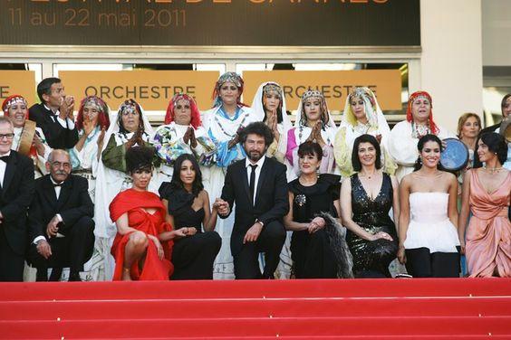 """Leila Bekhti et l'équipe du film """"La source des femmes"""""""