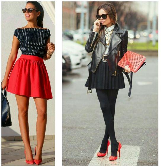 Combinar calzado rojo
