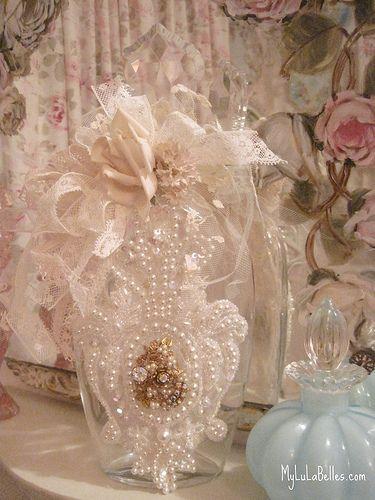 Vintage bridal lace bottle | Flickr - Photo Sharing!