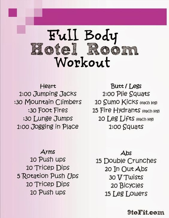 Full Body Hotel Room Workout..get your workouts in even when on the road