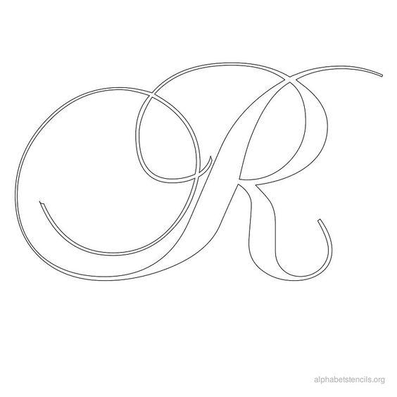Print free alphabet stencils calligraphy r ecriture