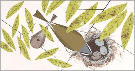 Charley Harper - Vigilant Vireos  2008
