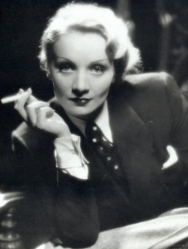 """""""I dress for the image. Not for myself, not for the public, not for fashion, not for men."""" - Marlene Dietrich"""