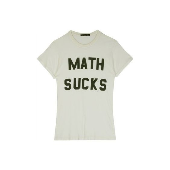 MATH SUCKS VINTAGE T-SHIRT found on Polyvore