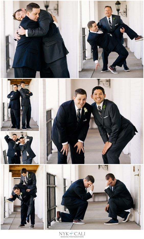 A must have for the groom and his groomsman.  Funny poses with the wedding party.  These would look so great in a collage #wedding #mwri #photography