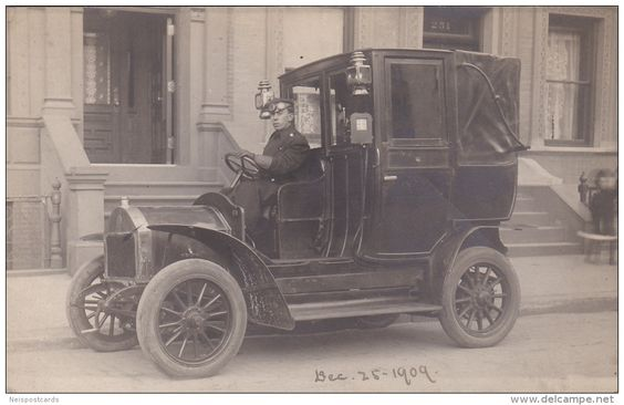 RP: Very Early Taxi Cab w/ Driver , New York City , PU-1909