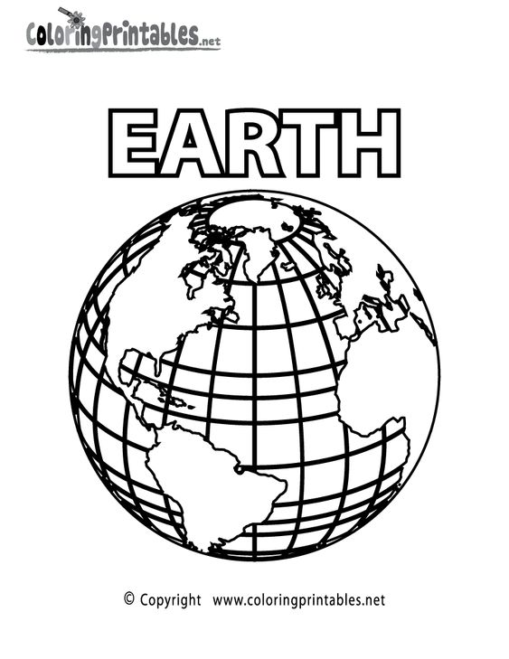 Planet Earth Coloring Page - A Free Science Coloring Printable ...