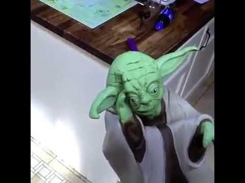Slapping Yoda Youtube Yoda Funny Yoda Meme Funny Video Memes