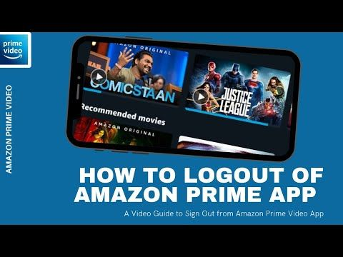 How To Sign Out Of Amazon Prime App Logout From Amazon Prime Video Android Or Iphone Youtube Amazon Prime Video App Amazon Prime App Prime Video App