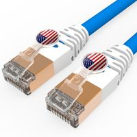 Creative Patch Cord,American Flag,CAT6A Round High Speed LZSH Ethernet Cable,5pcs*1m/package with Different Pattern RJ45 Plug
