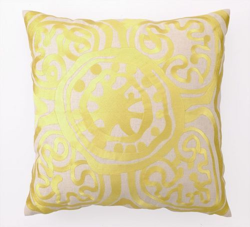 Medallion Yellow Pillow. -  LauraLaura, these pillows are pretty!