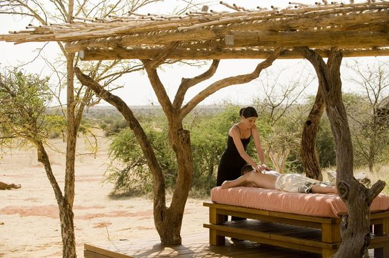 Outdoor treatment at Tswalu Spa