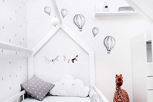 Affiliatelink Luvel M21 5 Stuck Watercolor Heissluftballons Sticker 3d Wanddeko Wandbilder Wandtatt Kinder Zimmer Kinderzimmer Wandtattoo Kinderzimmer
