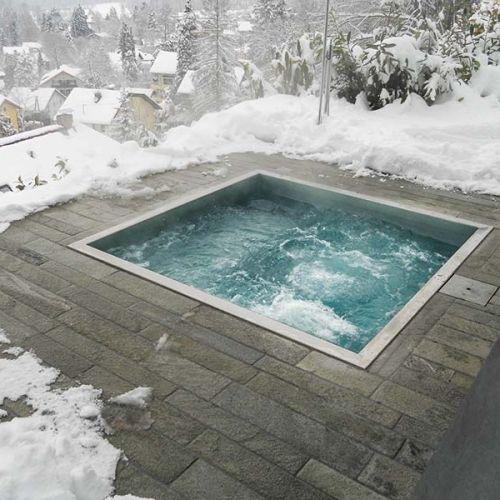 Whirlpool Einbau- Badewanne MINIPOOL Kollektion Outdoor by Kos by - whirlpool badewanne designs jacuzzi