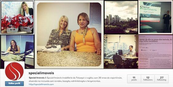 Estamos no Instagram também, fique por dentro das novidades Special Imóveis, siga  http://ow.ly/wx6li — em Special Imóveis