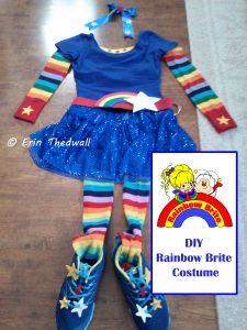 DIY Rainbow Brite running costume