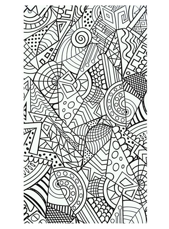 Galerie de coloriages gratuits coloriage formes - Dessin forme geometrique ...