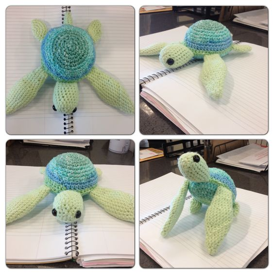 Amigurumi sea turtle, crochet pattern 100% original. My ...